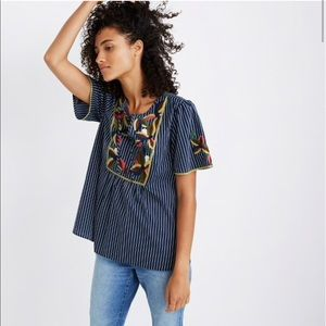 NWT Madewell embroidered fable top
